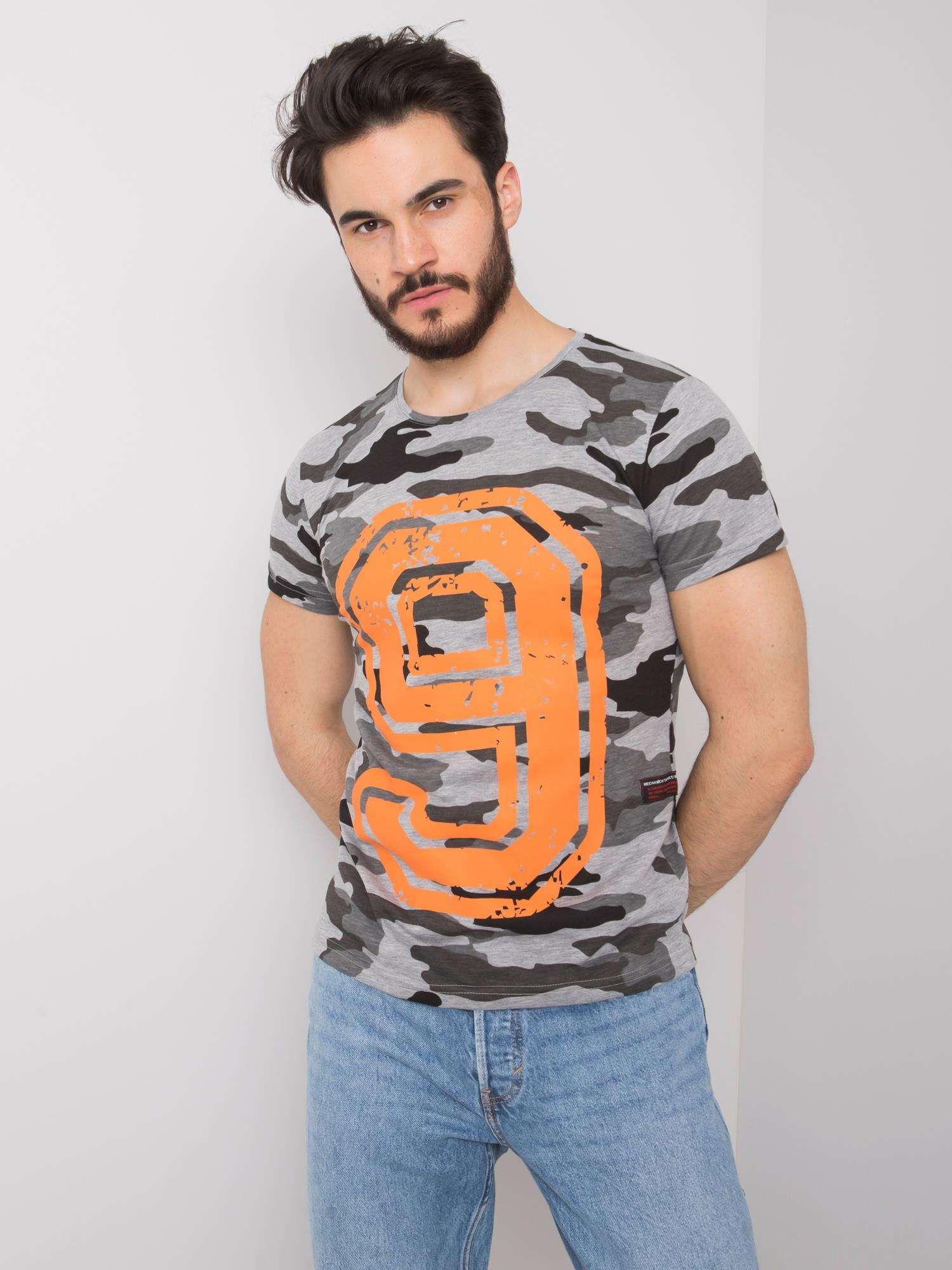 ΓΚΡΙ ΑΝΔΡΙΚΟ CAMO T-SHIRT - 1091571