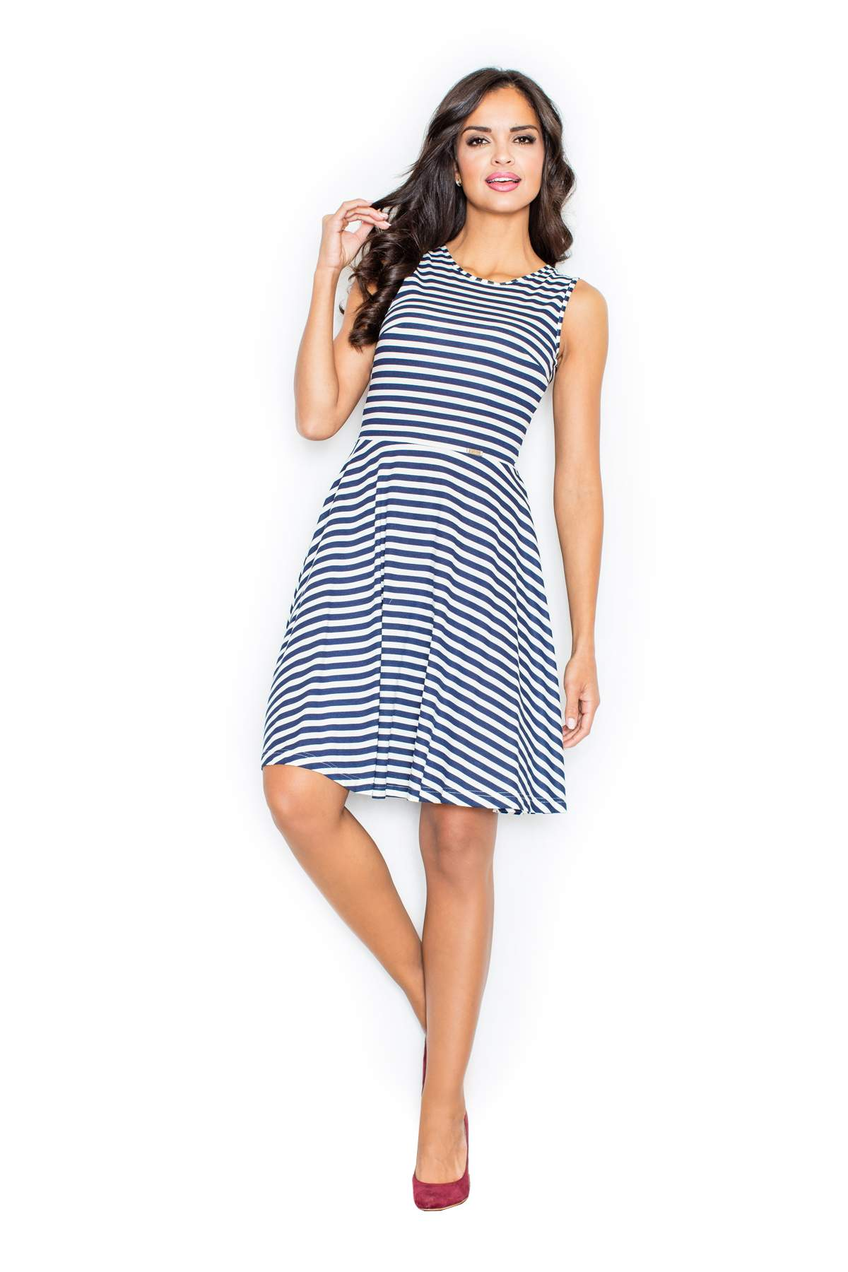 51b30b7053b0 Γυναικεία   Ρούχα   Φορέματα   Καθημερινά   FIGL midi φορεμα με ριγα ...