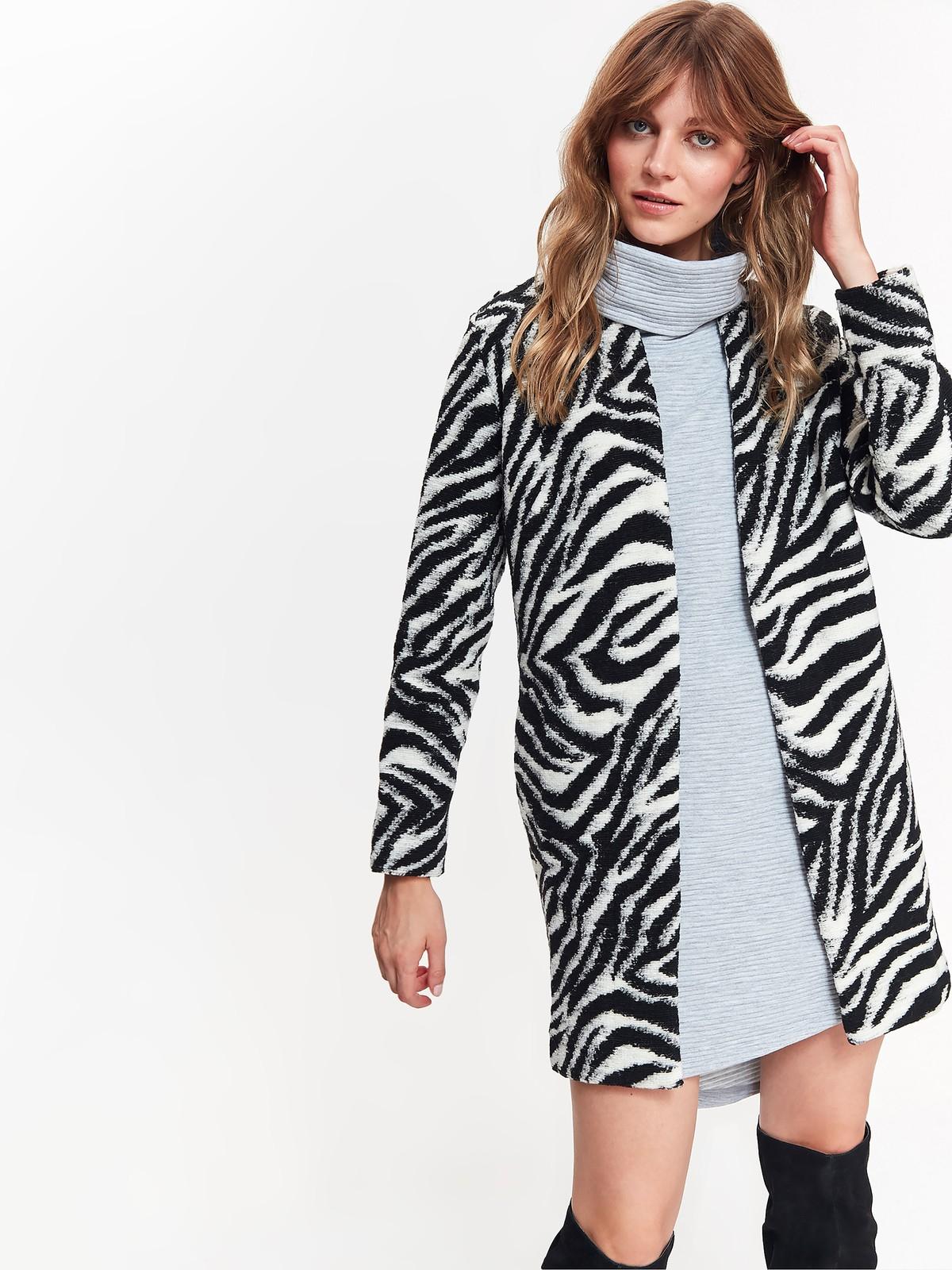 TOP SECRET top secret παλτο με animal print