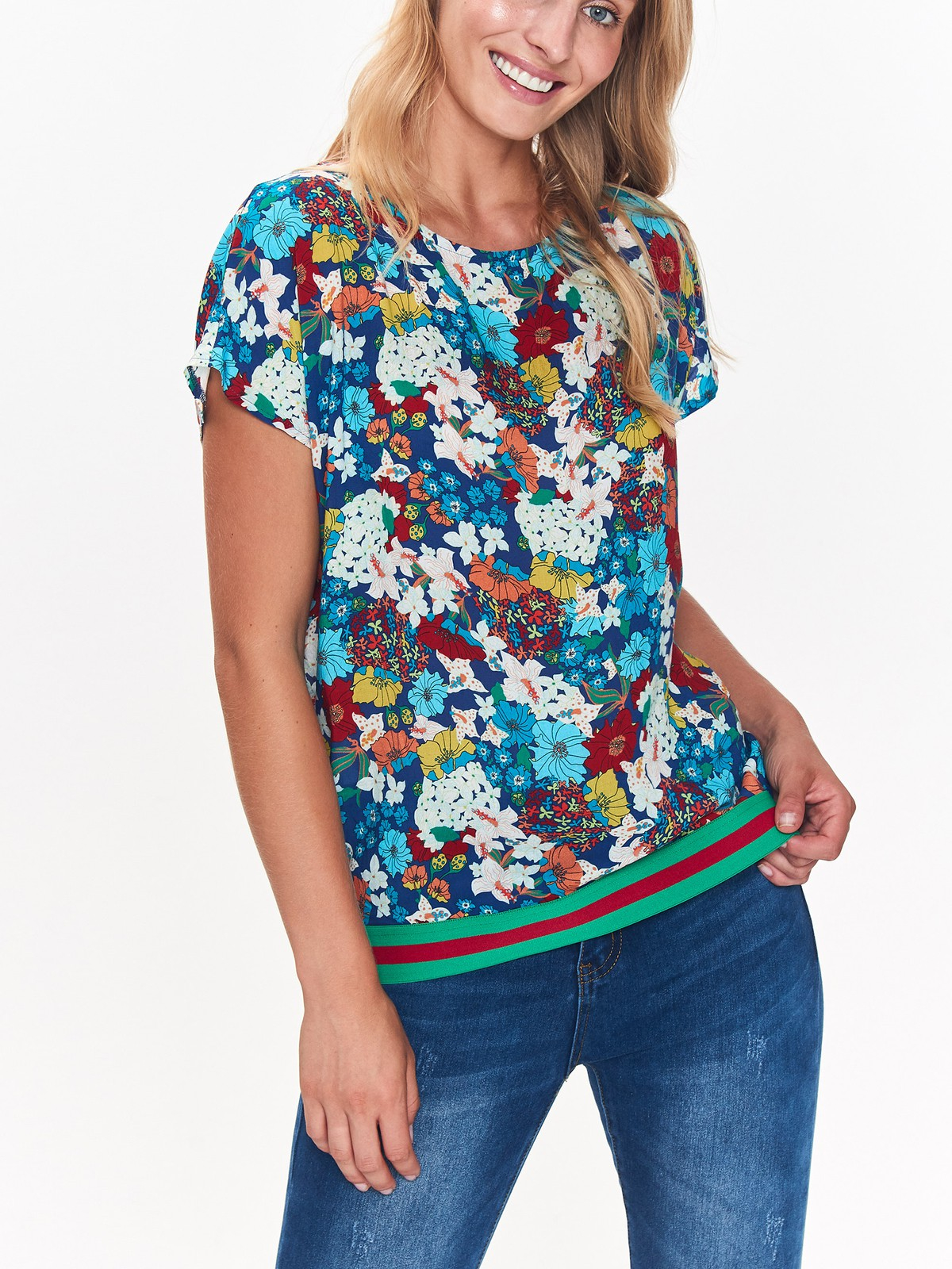 top secret γυναικειο φλοραλ t-shirt - 249152