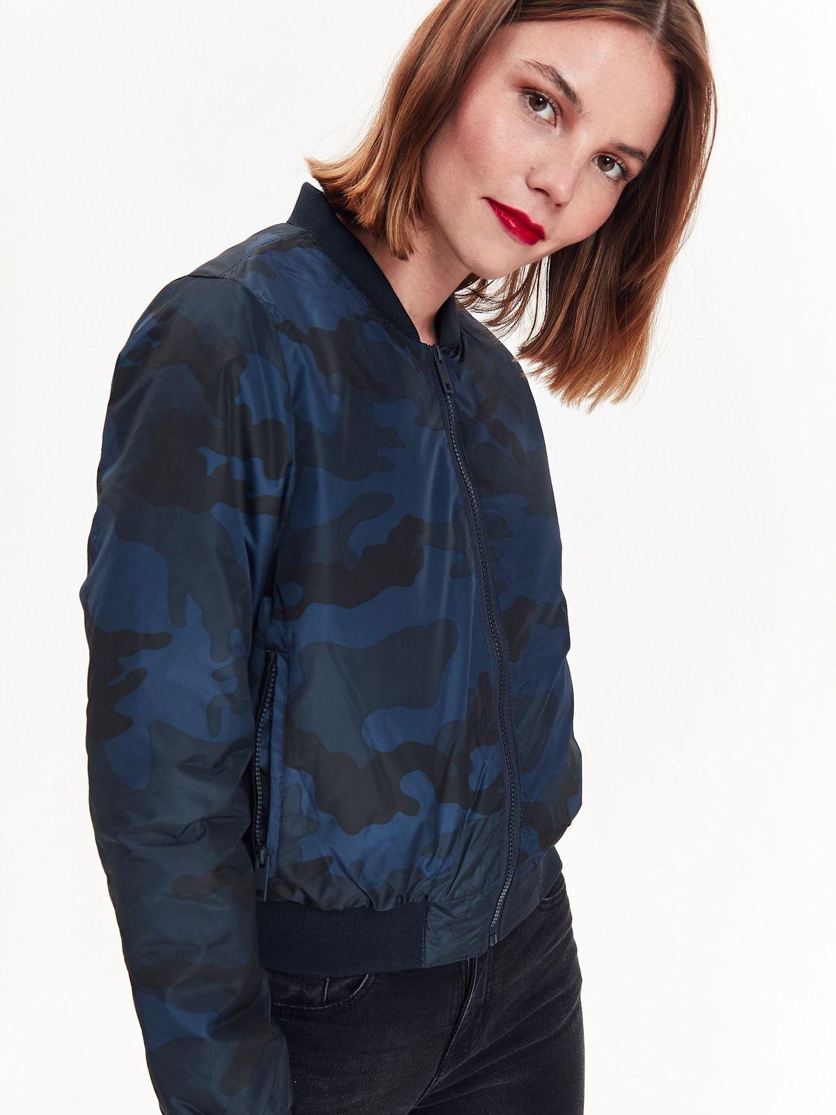 TOP SECRET TOP SECRET camo bomber jacket