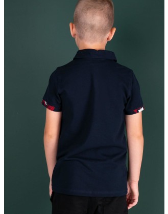 Printed blue Polo Shirt for Boys