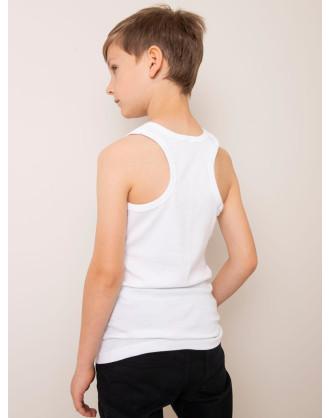 White Cotton Top for Boy