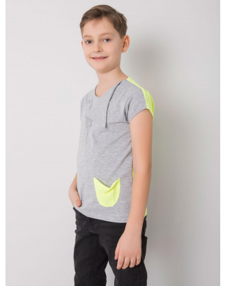 Grey and yellow Dodo KIDS t-shirt for boys