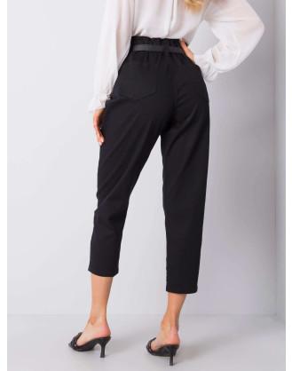 Black paper bag jeans pants