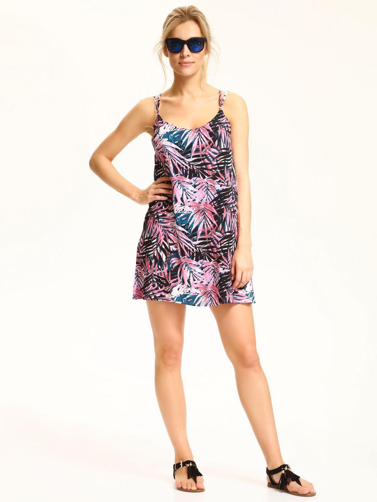DRYWASH top secret φορεμα με tropical print