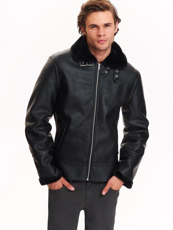 TOP SECRET top secret ανδρικο leather τζακετ