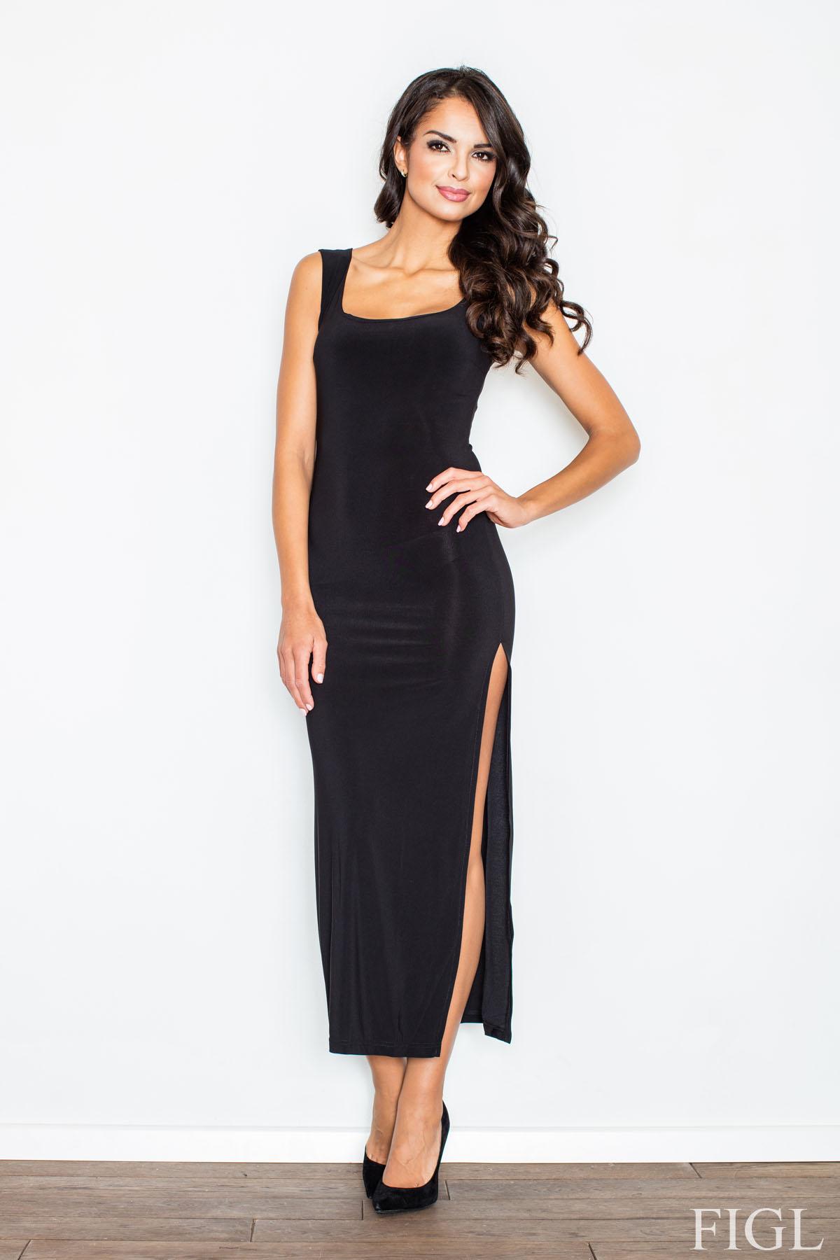FIGL maxi φορεμα με σκισιμο