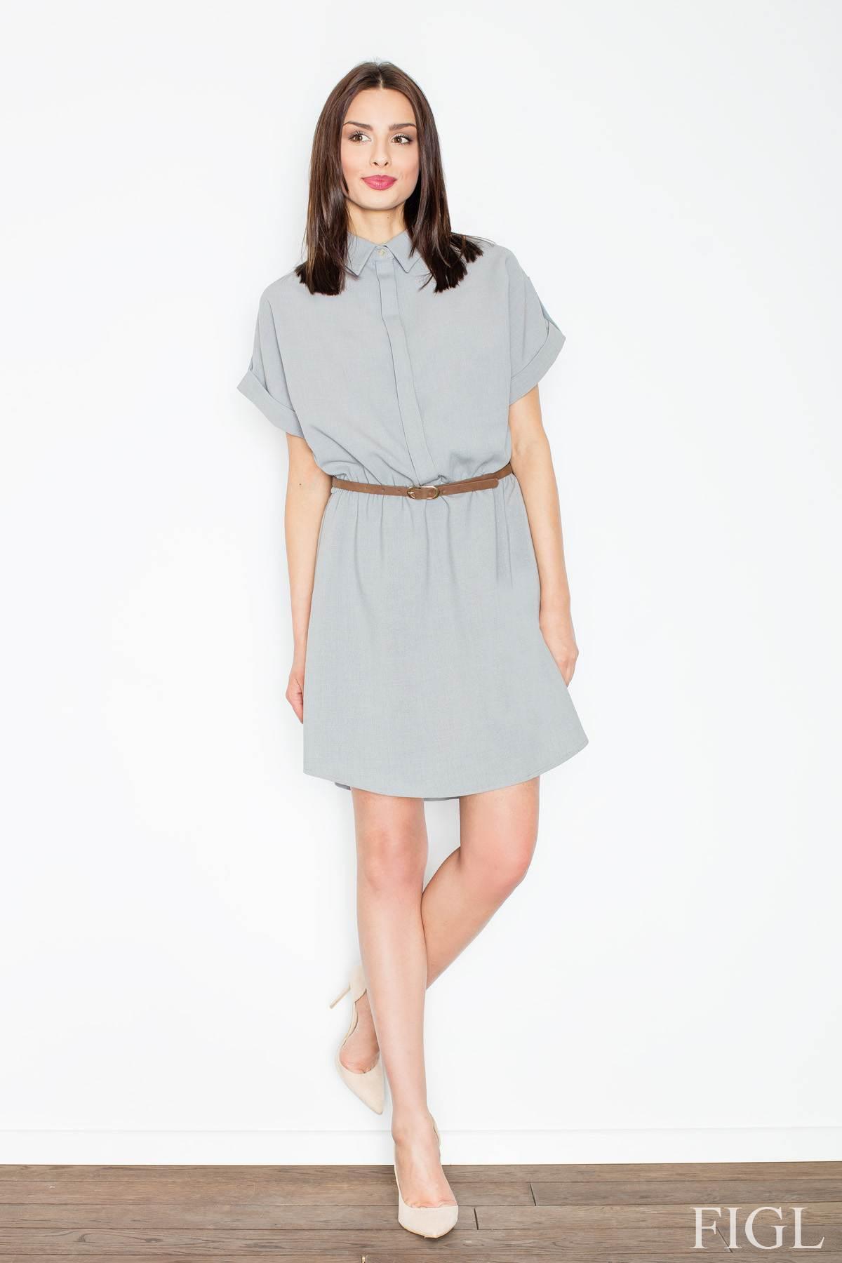 FIGL φορεμα - πουκαμισα με ζωνη