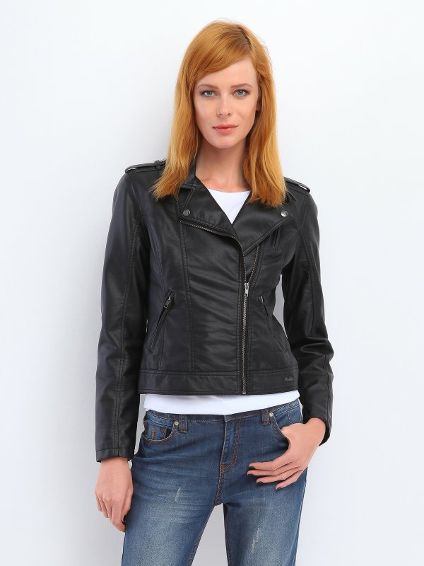 Biker jacket με επωμίδες .Χρώμα : μαύρο . Κολεξιόν Φθινόπωρο-Χειμώνας 2014. Σύνθεση: 50% POLIURETAN ,50% BAWEŁNA - Δωρεάν Αλλαγή σε περίπτωση που δεν σας κάνει το μέγεθος. - Παράδοση 7-10 εργάσιμες ημέρες μετά την παραγγελία σας