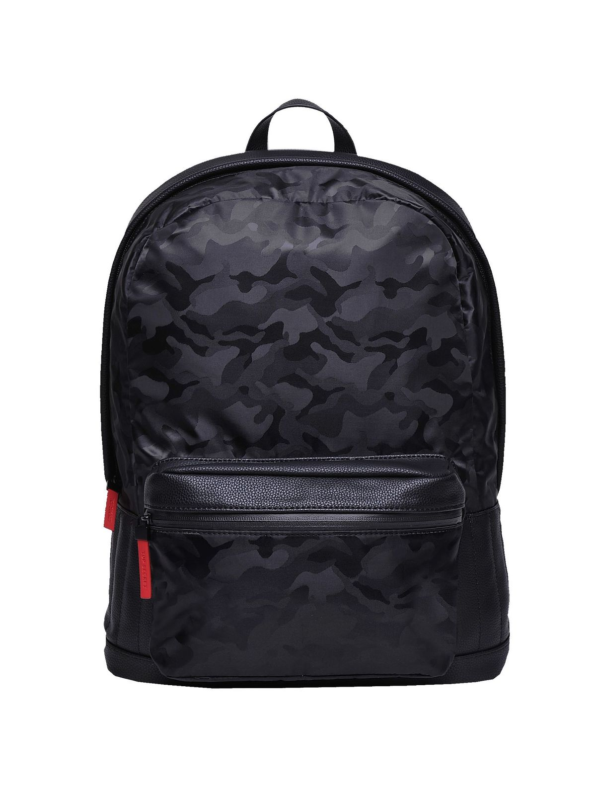 TOP SECRET ΜΑΥΡΟ BACKPACK ΜΕ CAMO PRINT
