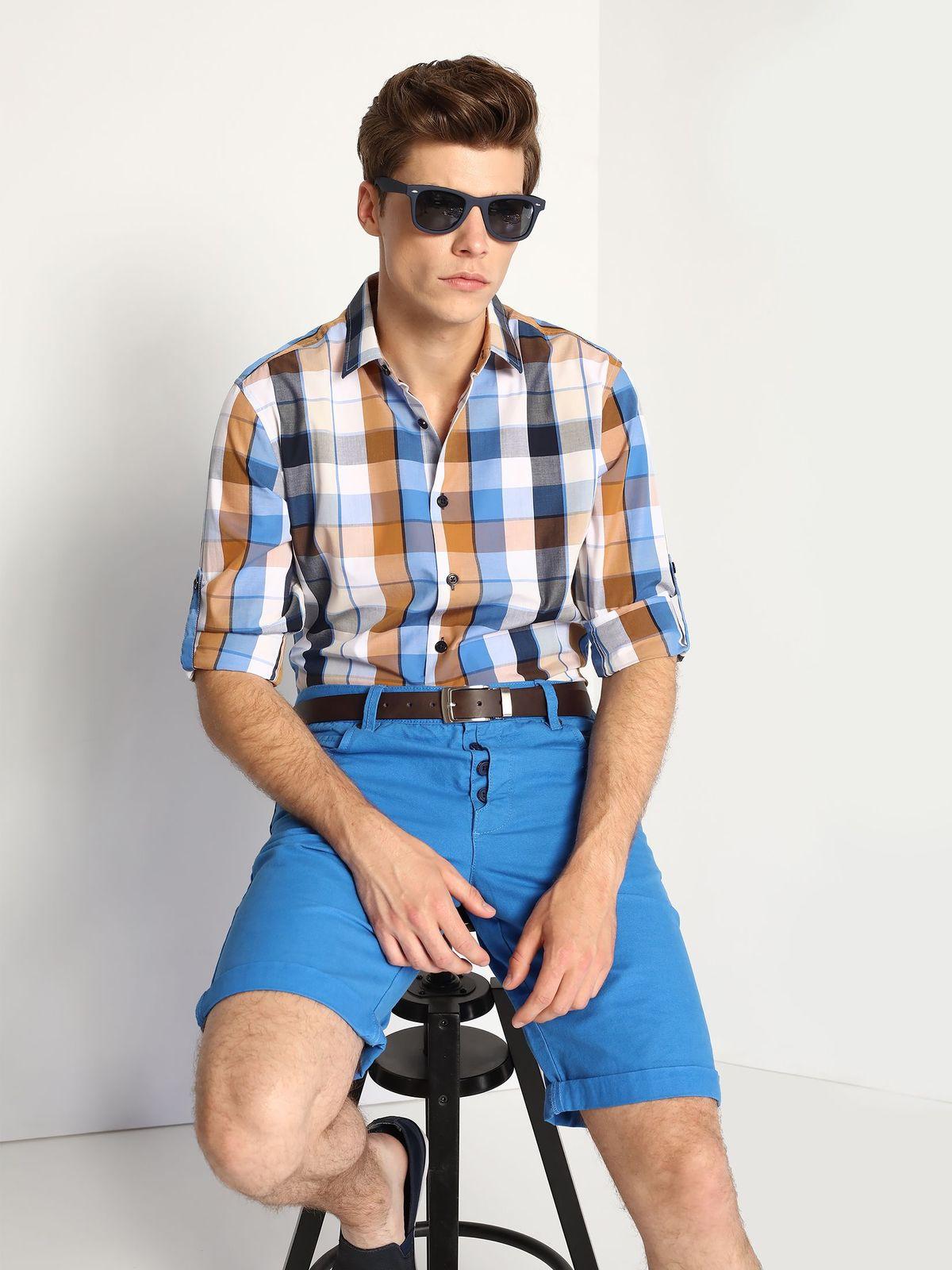 TOP SECRET ανδρικο καρο πουκαμισο