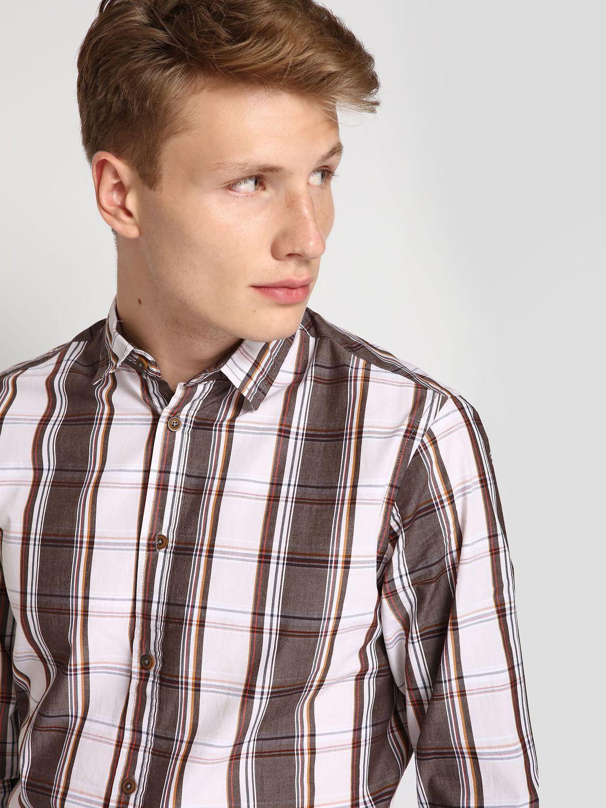 TOP SECRET top secret καρο slim fit πουκαμισο