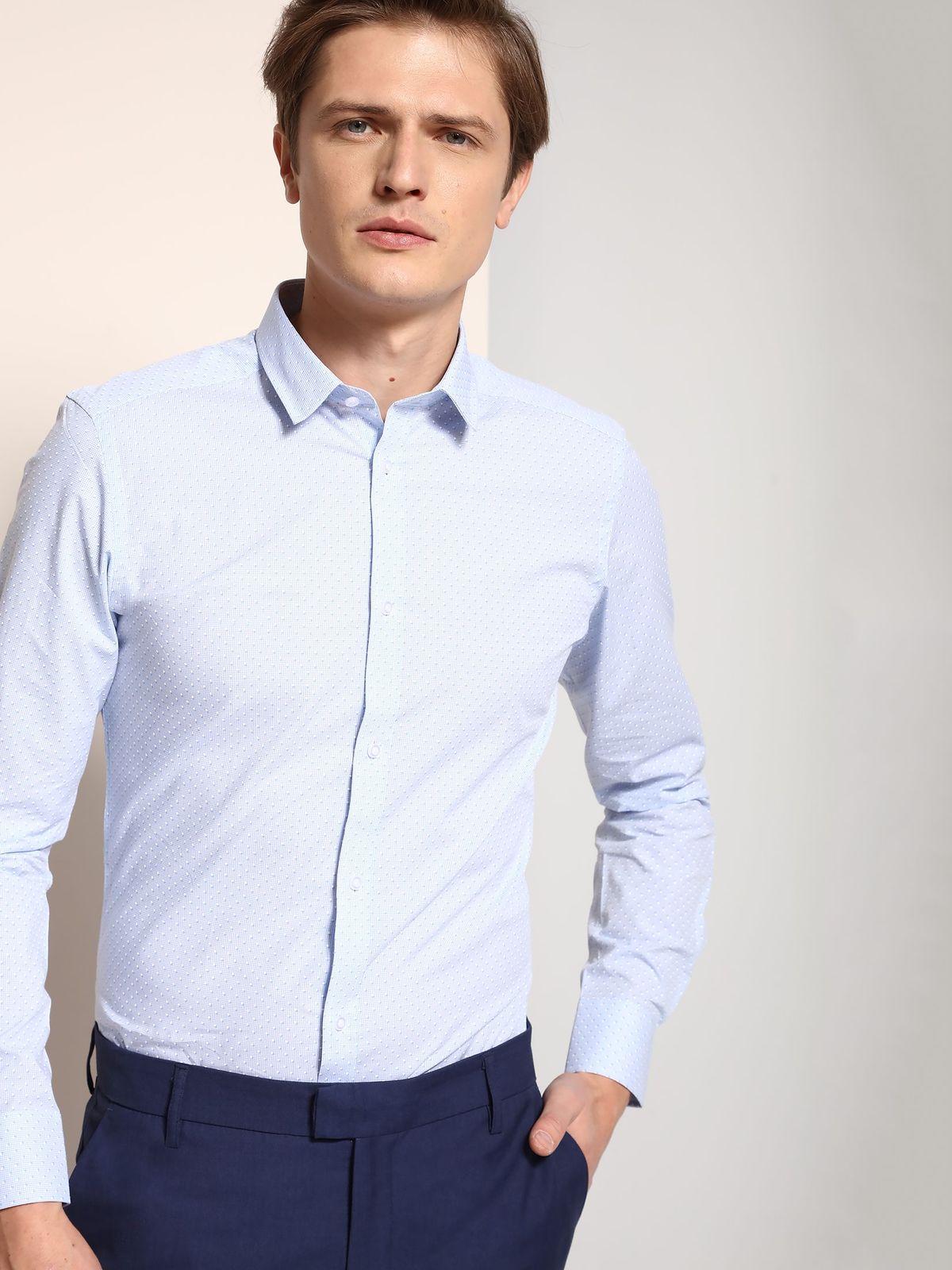 TOP SECRET top secret slim fit πουκαμισο με print
