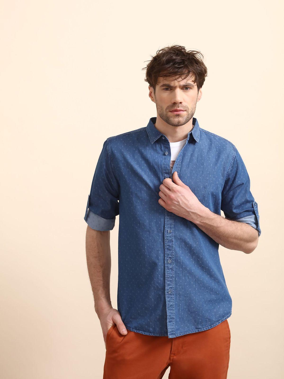 TOP SECRET top secret τζιν πουκαμισο με print