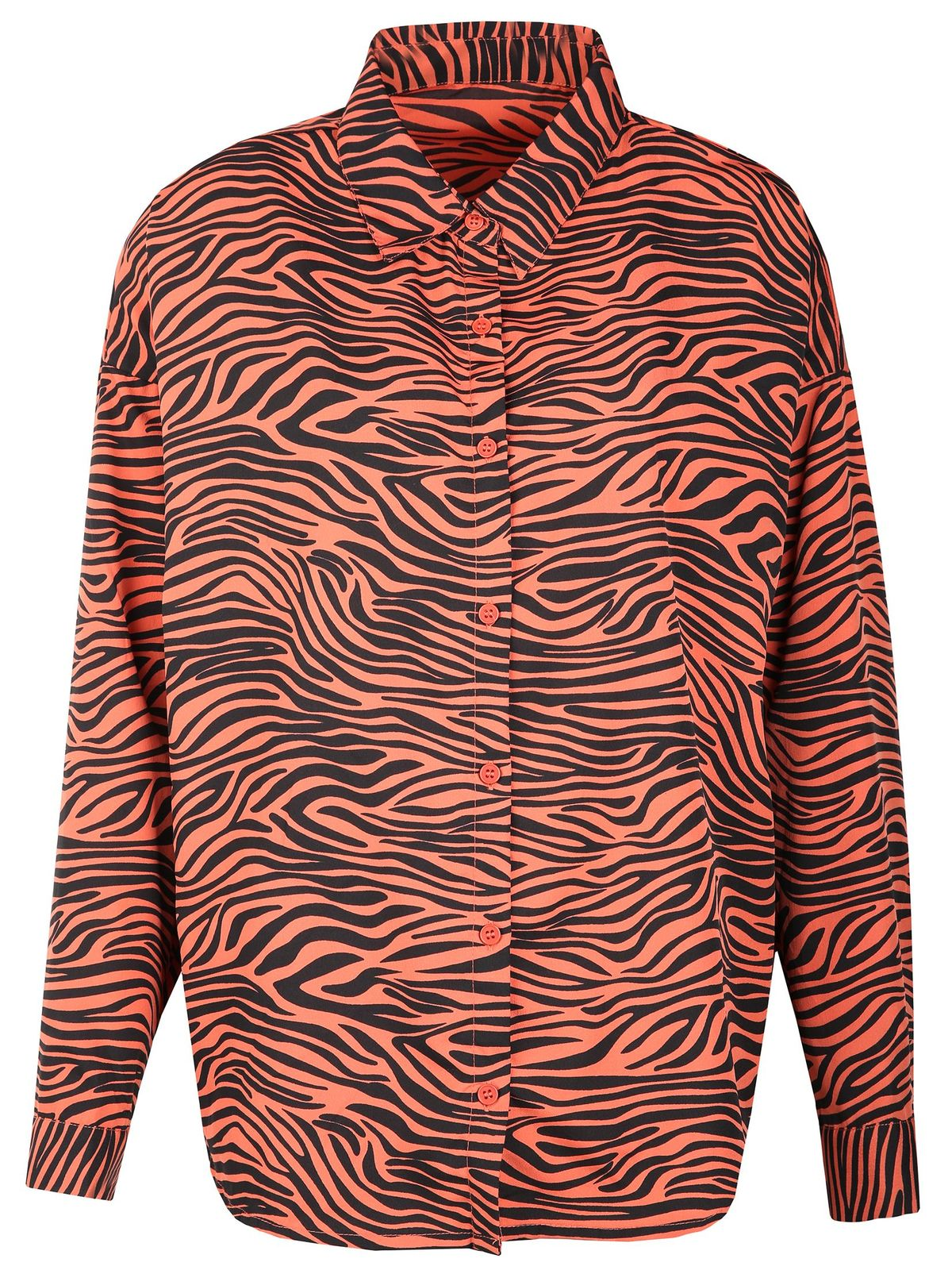 TOP SECRET κοκκινο πουκαμισο animal print