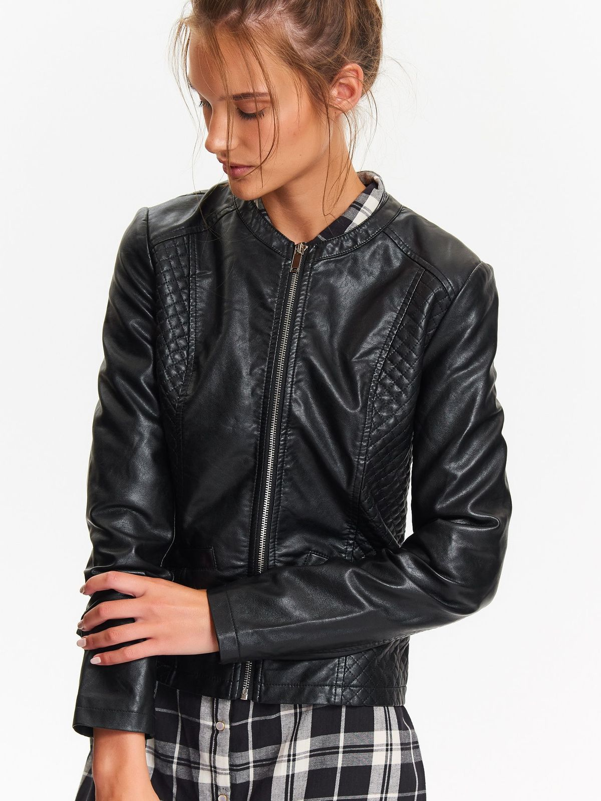 TOP SECRET top secret γυναικειο leather τζακετ