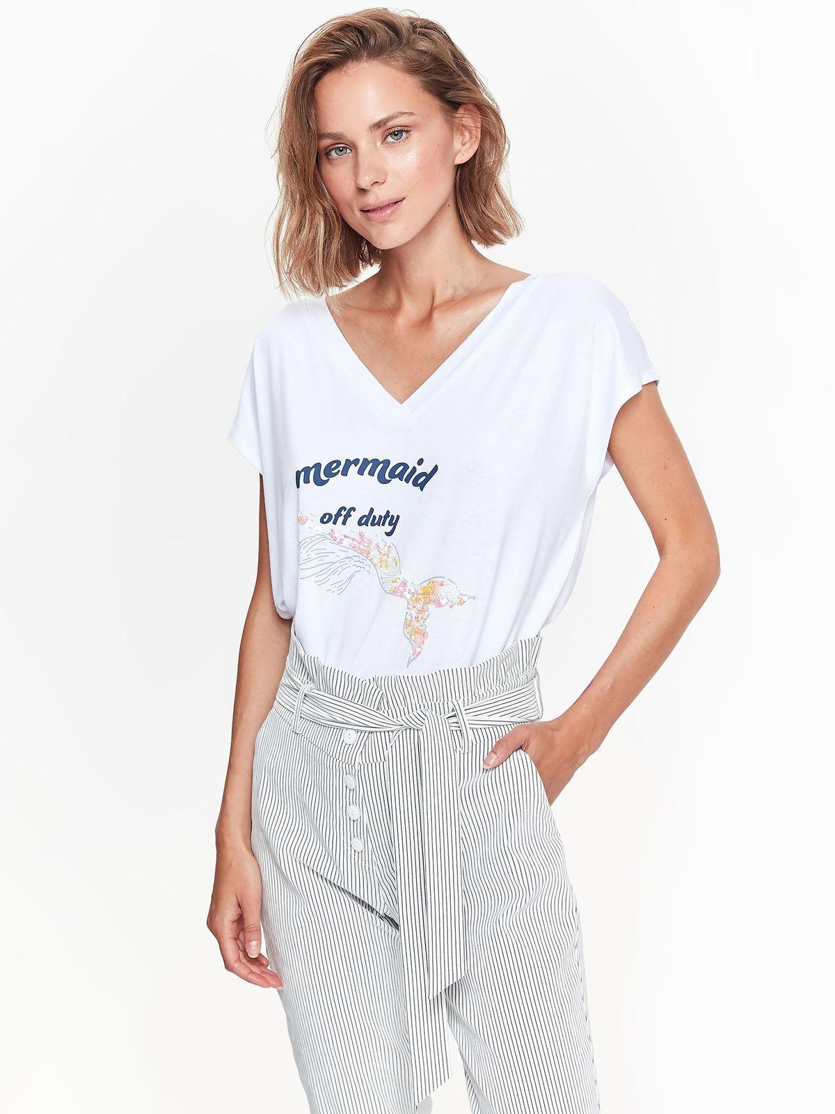 TOP SECRET top secret t-shirt με summer print