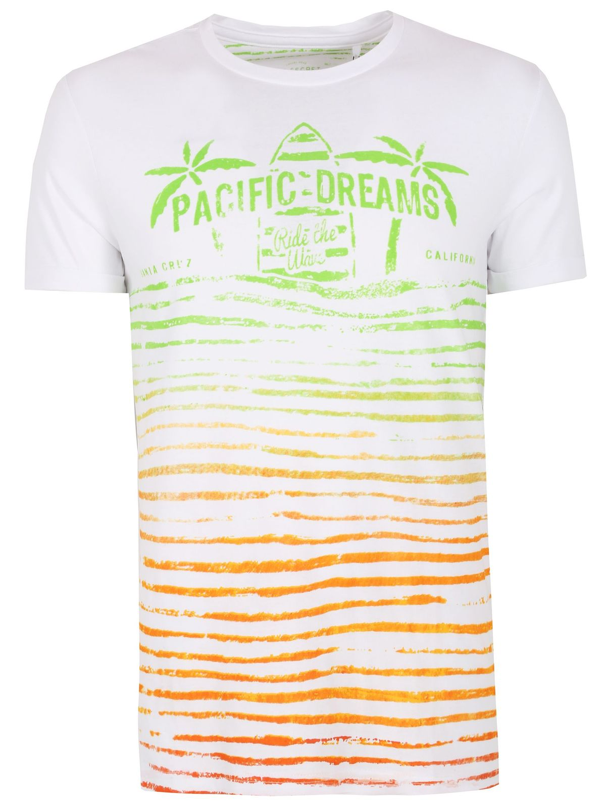 TOP SECRET ΛΕΥΚΟ T-SHIRT ME TROPICAL PRINT