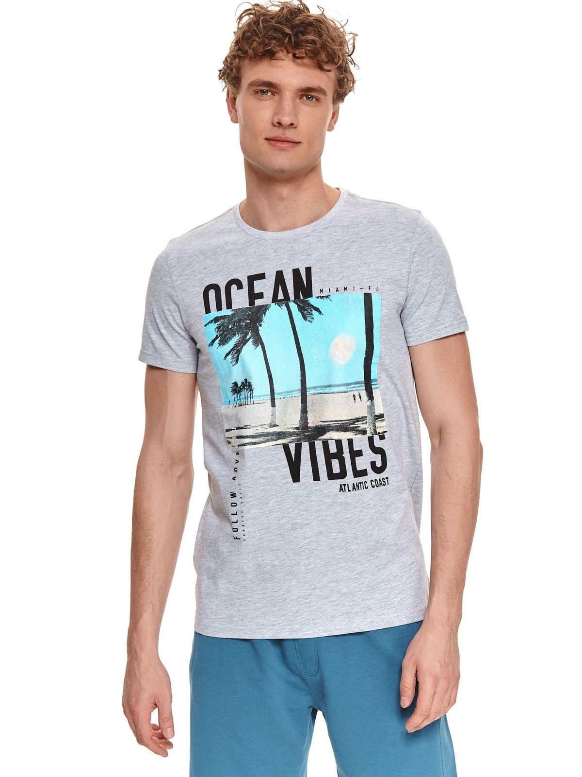 ΓΚΡΙ T-SHIRT OCEAN VIBES - 2253923