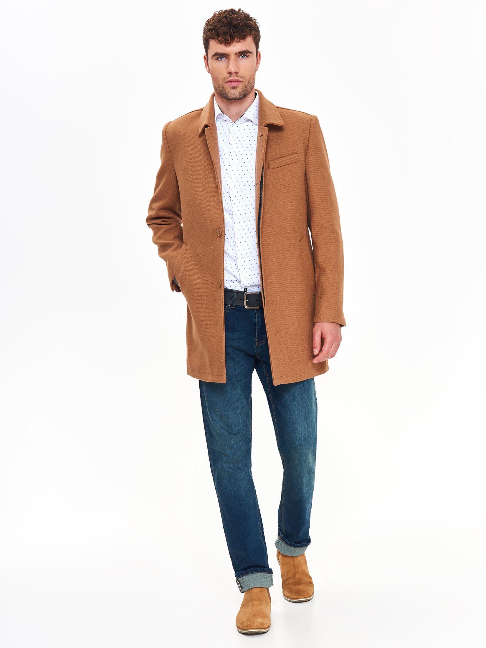 TOP SECRET top secret ανδρικο μακρυ παλτο