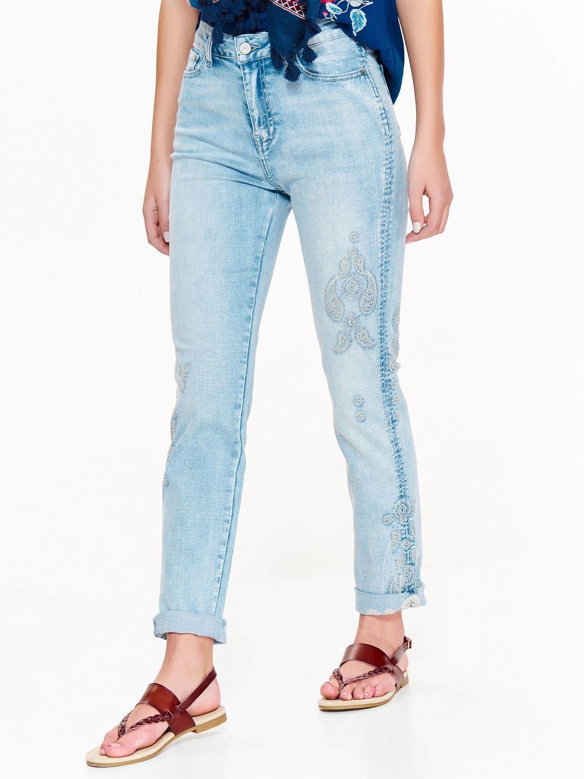 TOP SECRET loose jean παντελονι με κεντημα