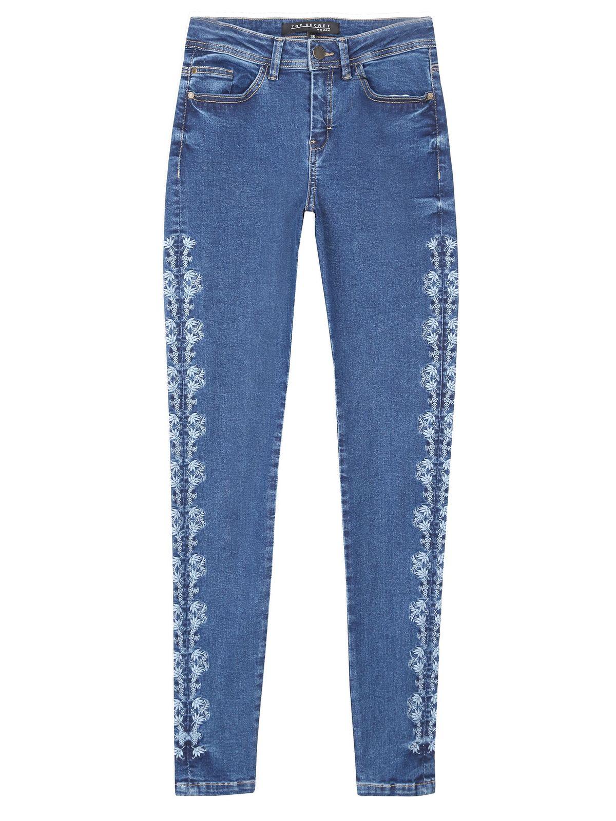 TOP SECRET jean παντελονι με κεντημα