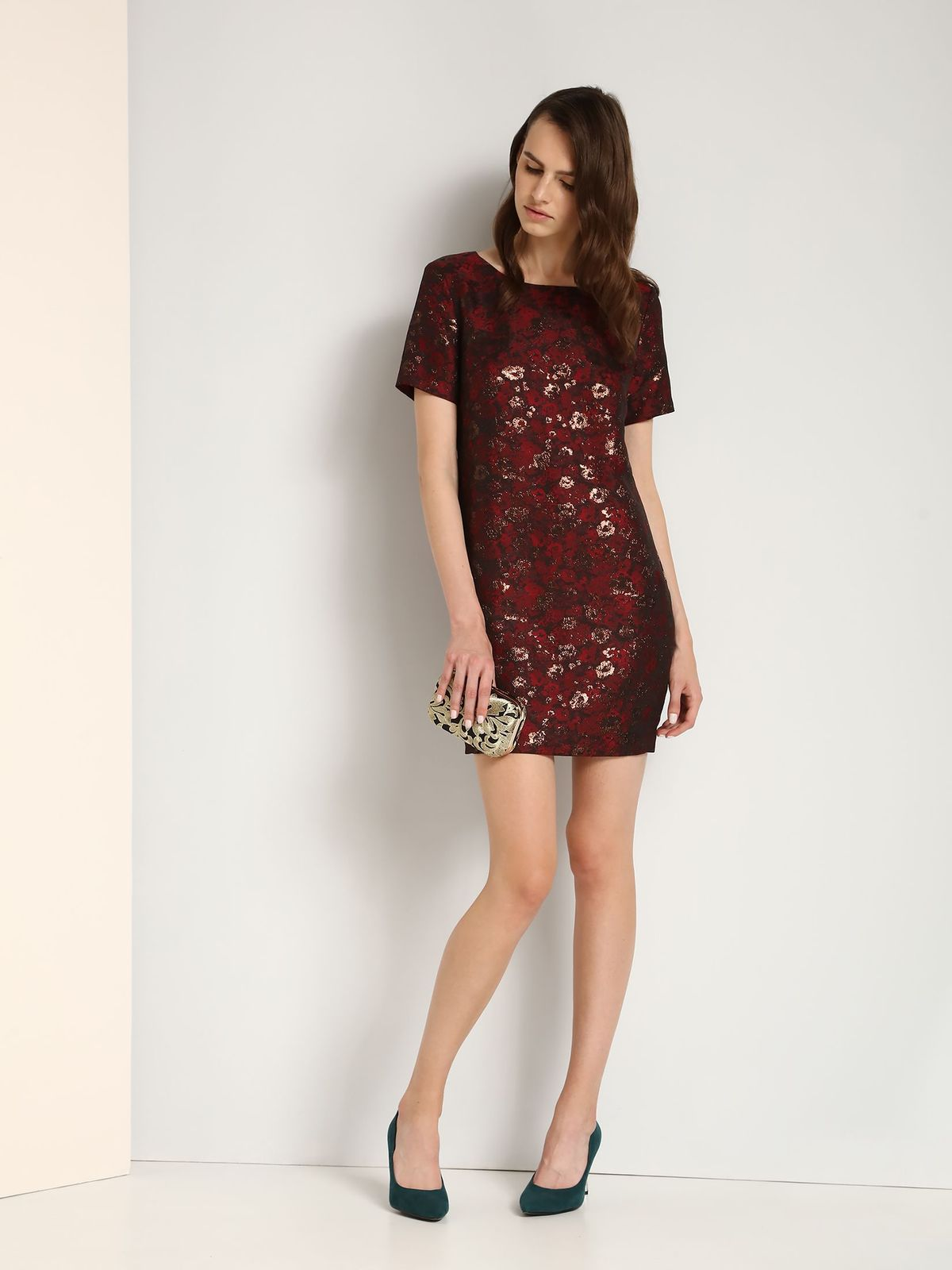 TOP SECRET top secret μινι φορεμα με print