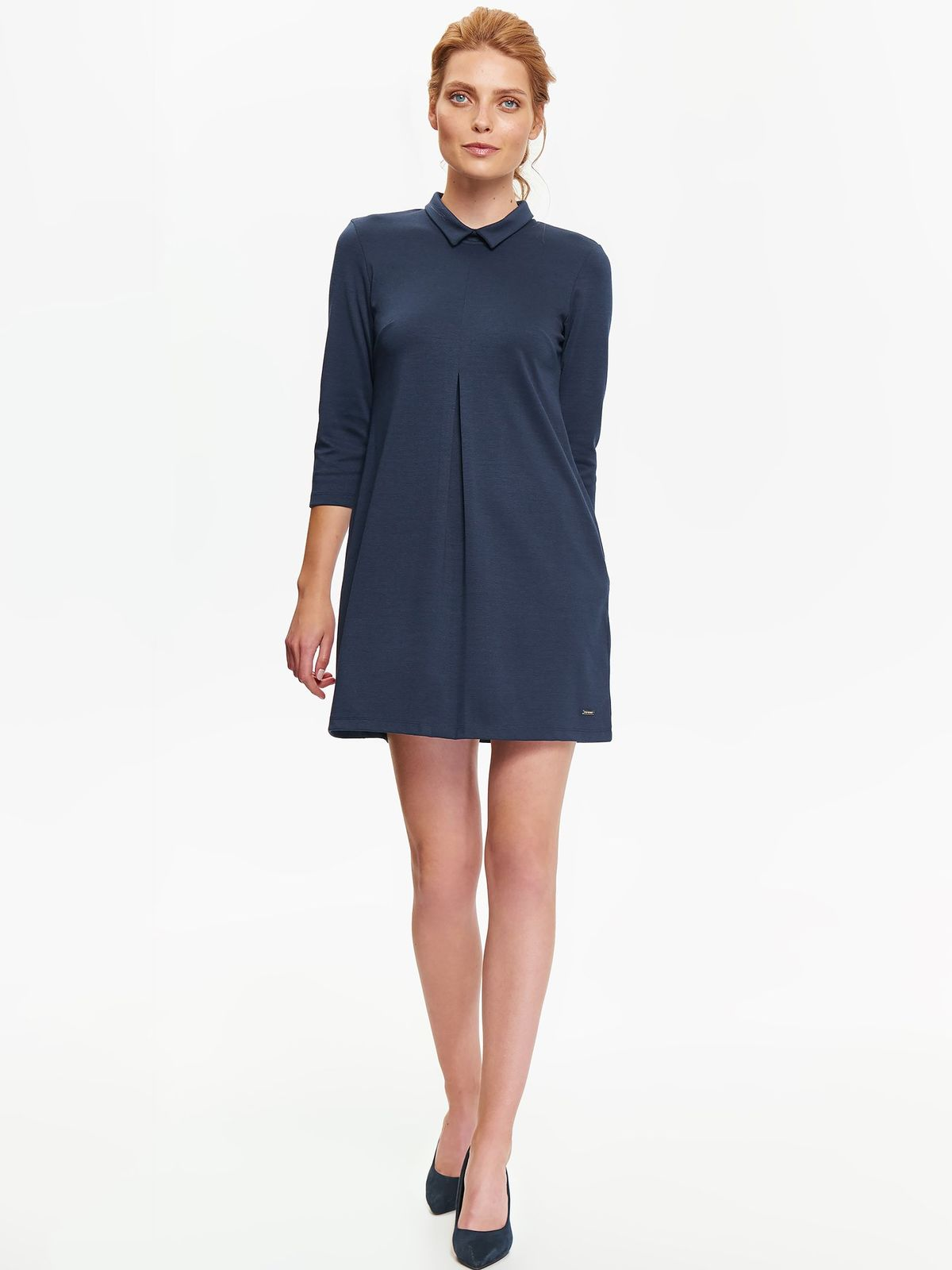 top secret κομψο φορεμα με γιακα