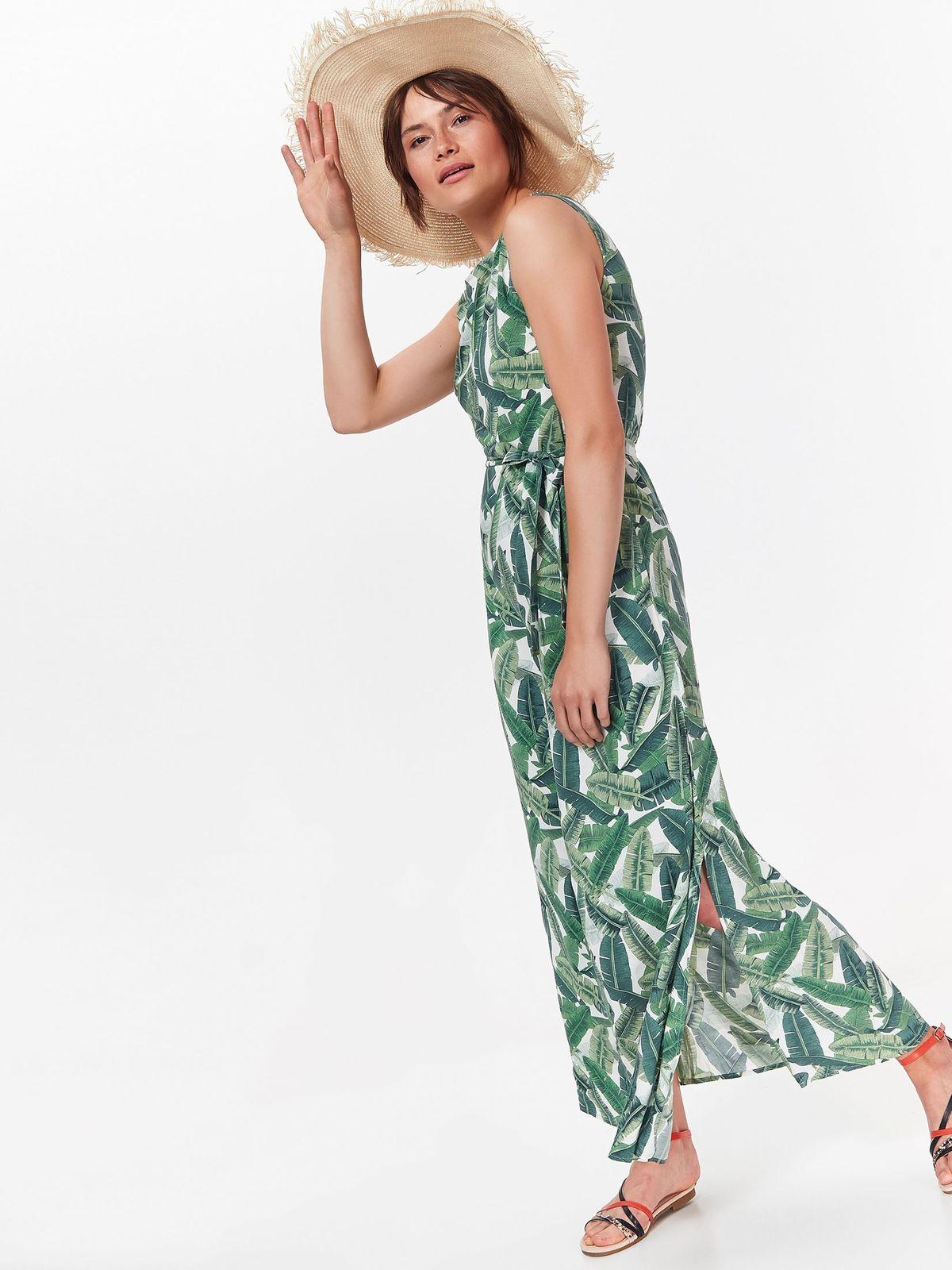 TOP SECRET maxi φορεμα με tropical print