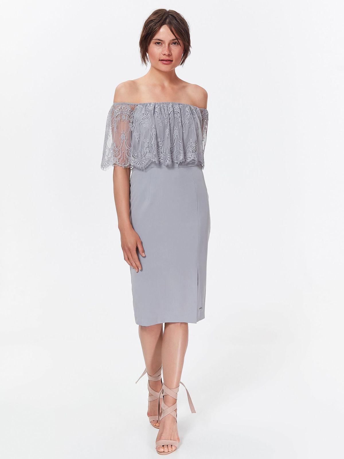 TOP SECRET στραπλες φορεμα με δαντελα