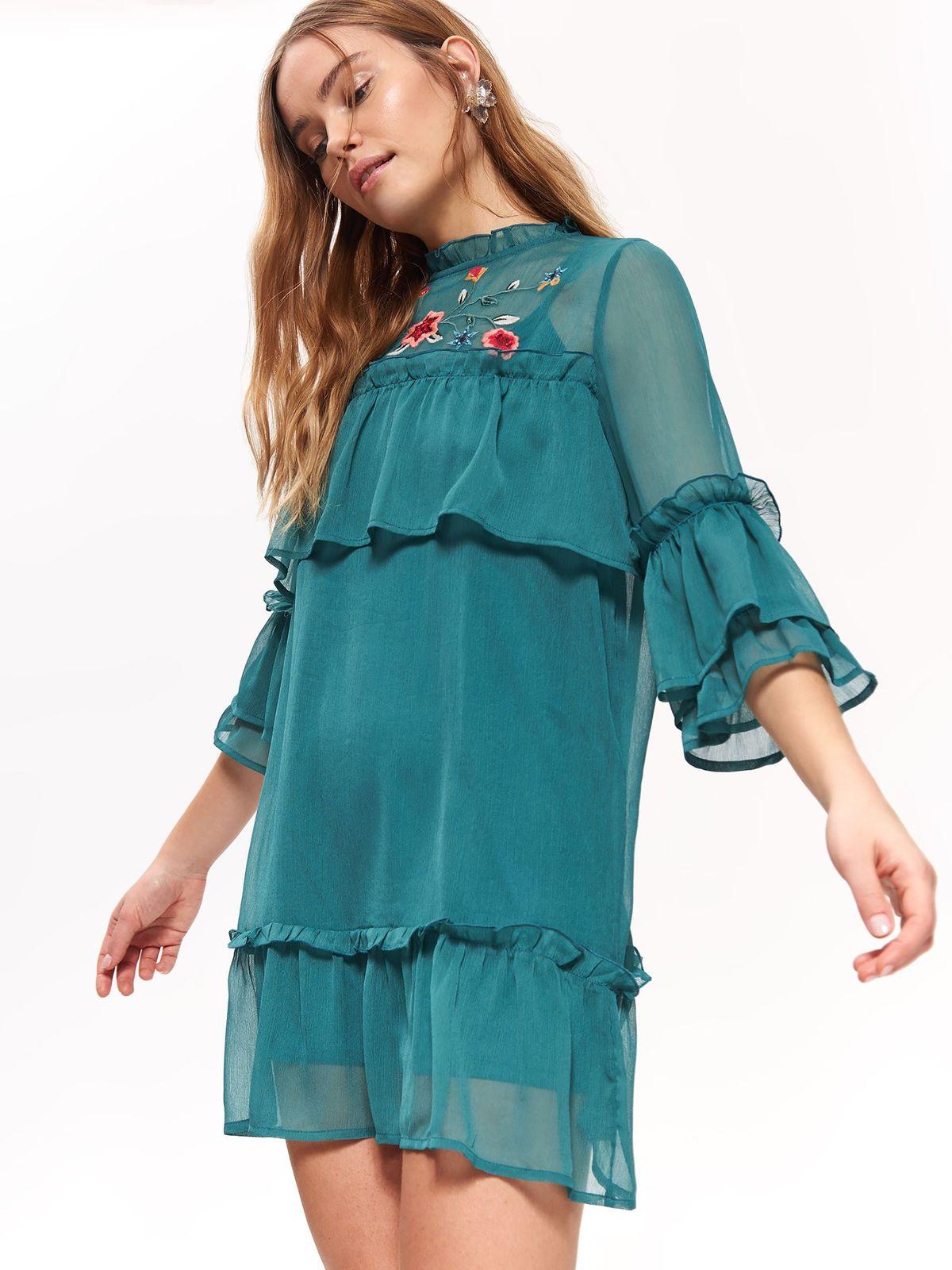 top secret φορεμα με κεντημα - 305146