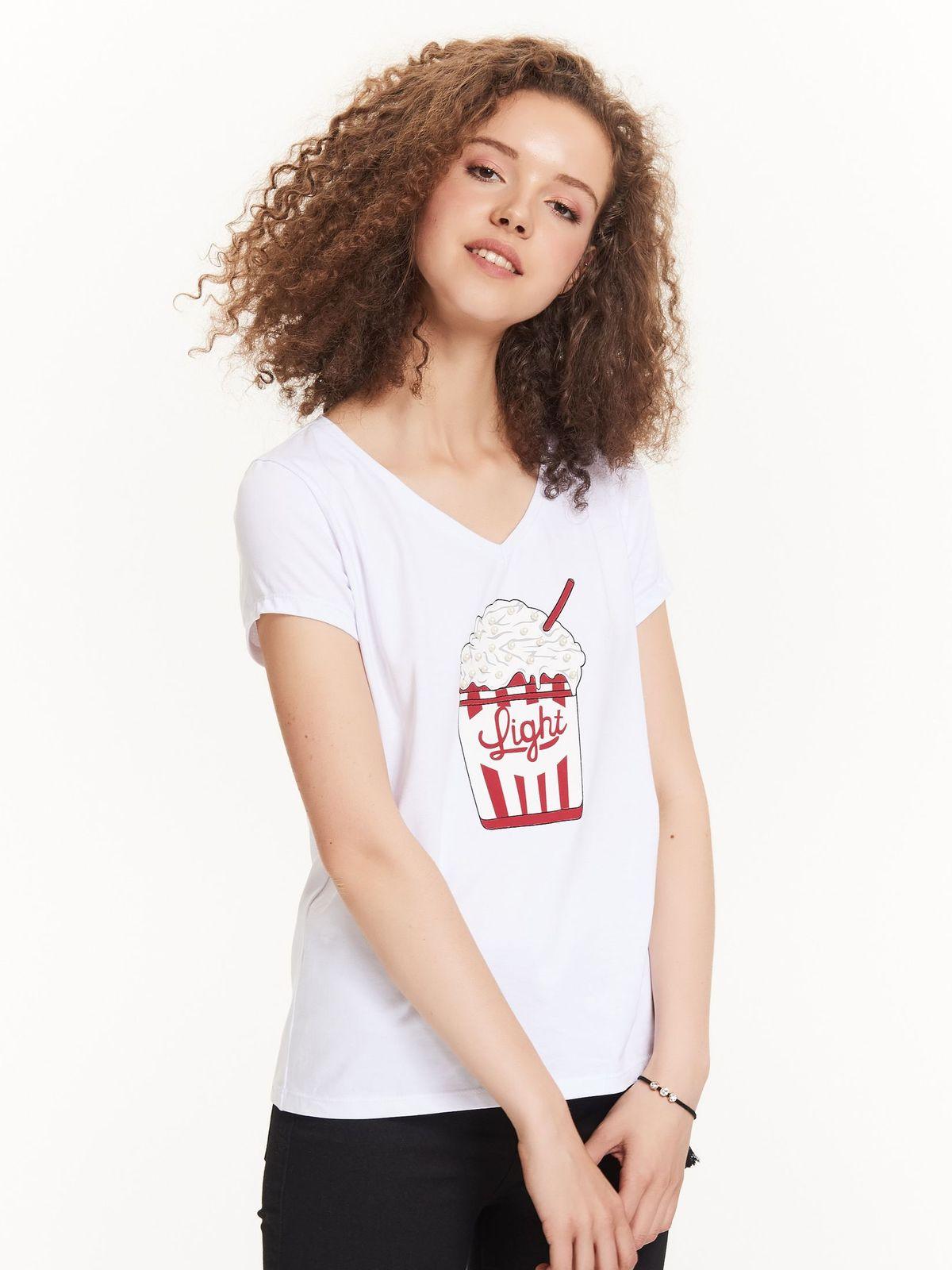 TROLL troll γυναικειο t-shirt με περλες