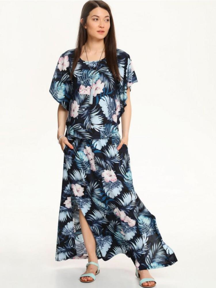 φλοράλ maxi φούστα