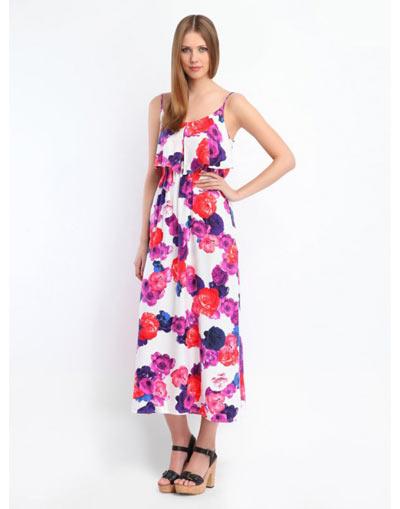 Maxi floral φορεμα με βολαν