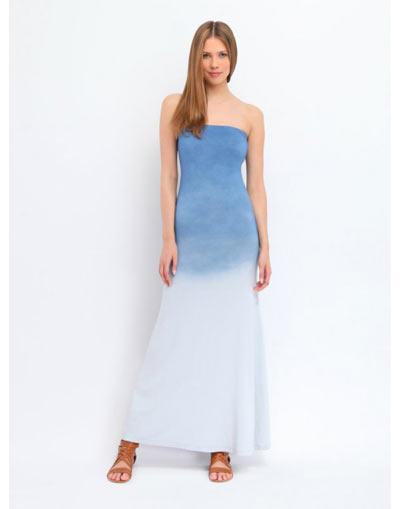 Maxi στραπλες ombre φορεμα