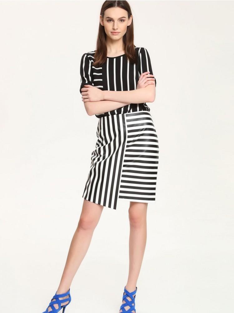 ασύμμετρη ριγέ φούστα