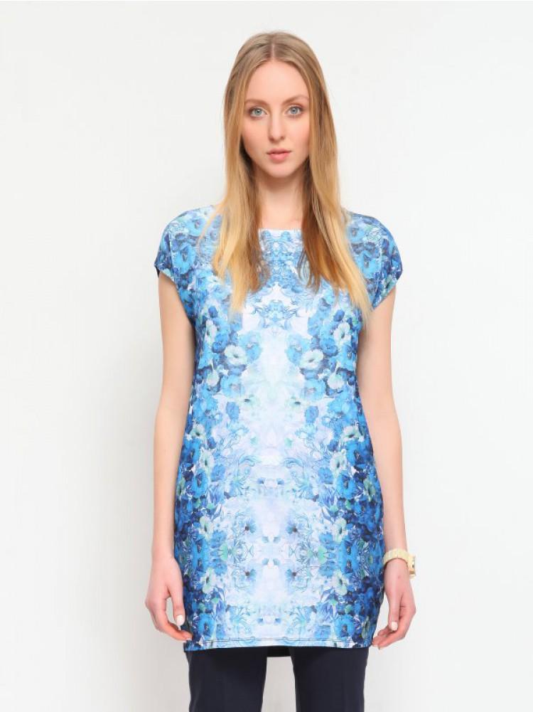 Κομψό φόρεμα με στάμπα. Άνοιξη 201