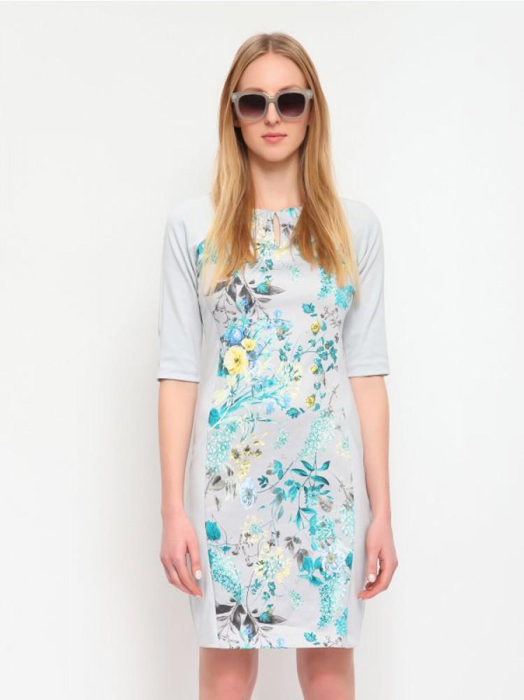 Κομψό φόρεμα με κοντά μανίκια