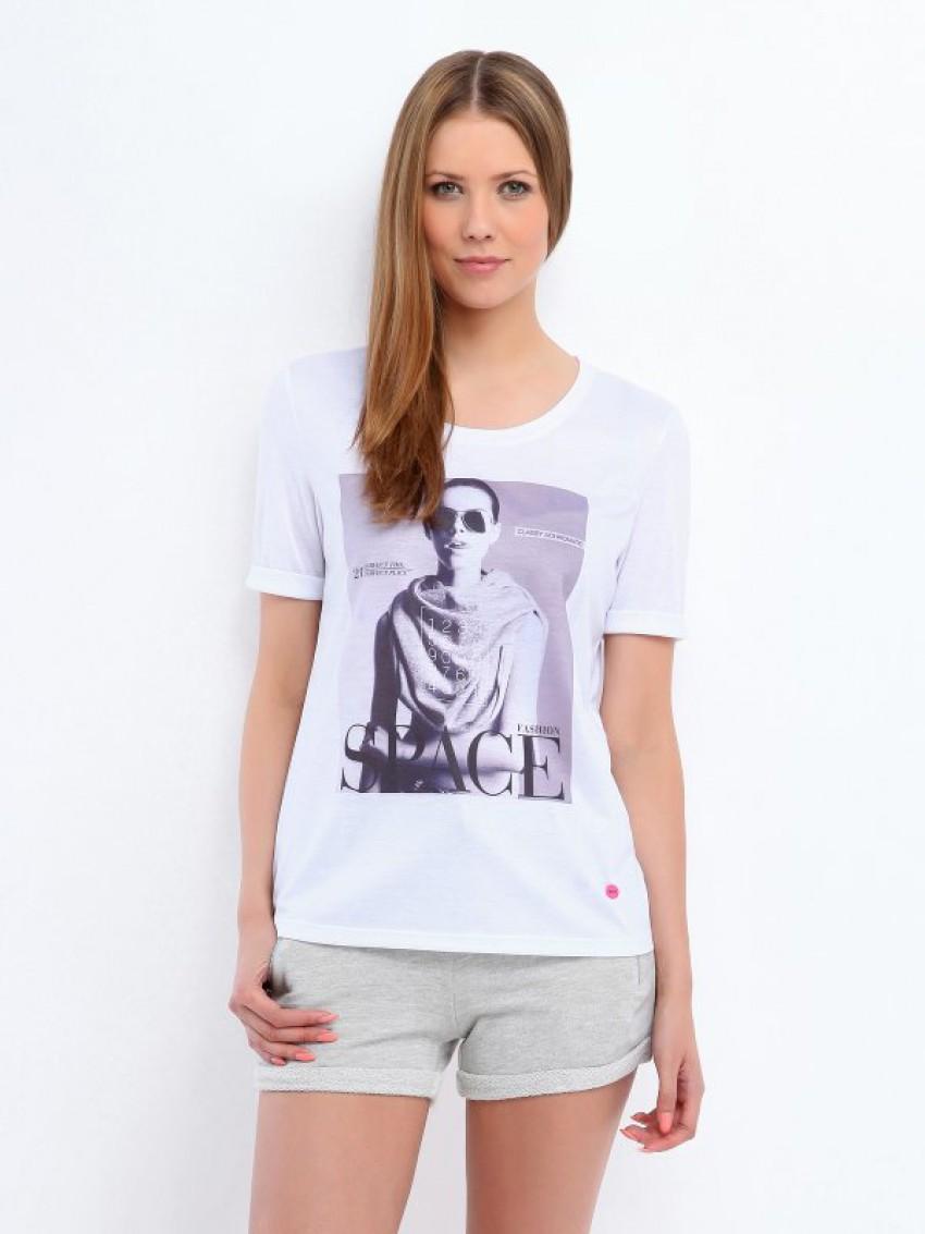 T-shirt με print και Logo